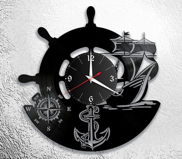12 новых макетов часов из винила: рыбалка, охота, море, горы, Гагарин