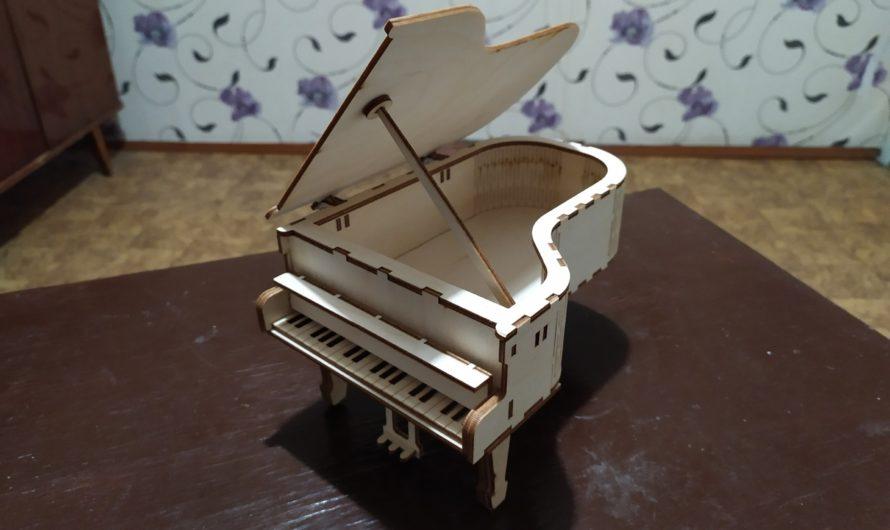 Рояль-шкатулка: скачать макет для лазера, инструкция по сборке