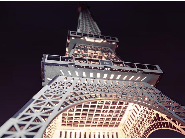 Бесплатный макет «Эйфелева башня» для лазера и ЧПУ. Видеоинструкция по сборке