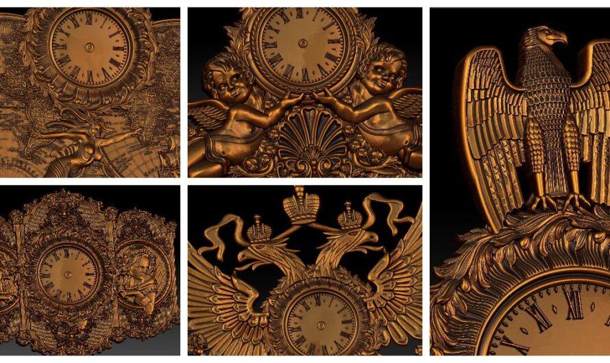 Скачать бесплатно 36 3D-моделей STL красивых настенных часов для фрезера и принтера