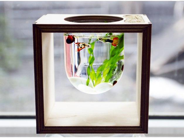 [Видео] Небольшой аквариум. Макет для лазера, инструкция по сборке