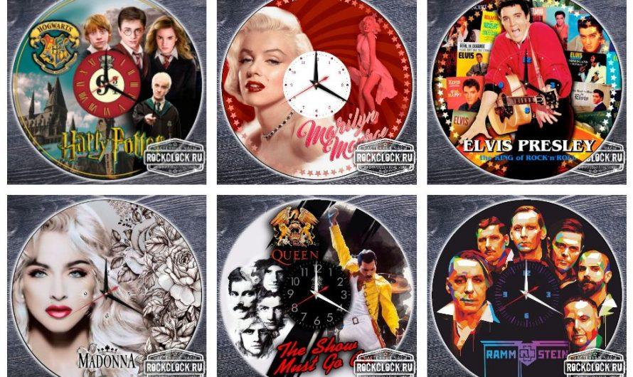 Макеты цветных часов для ультрафиолетовой печати на виниловых пластинках
